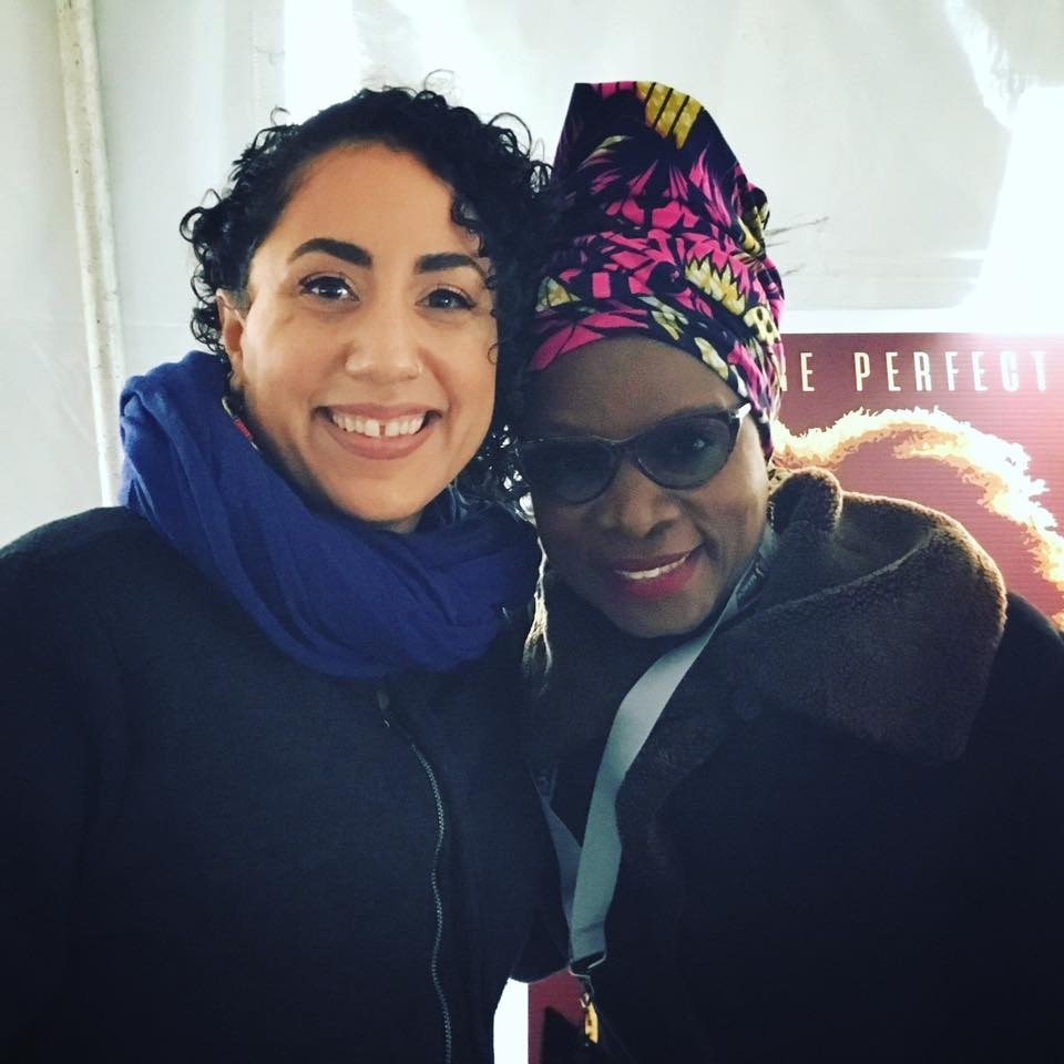 Taina Asili with Angelique Kidjo at backstage at The Women's March.