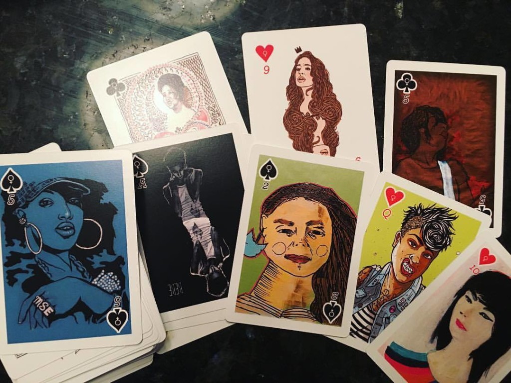 feminist playing cards